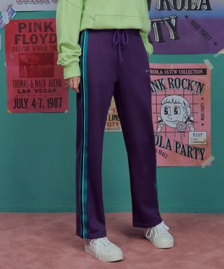 로라로라(rolarola) (PT-18515) SIDE TAPE PANTS PURPLE