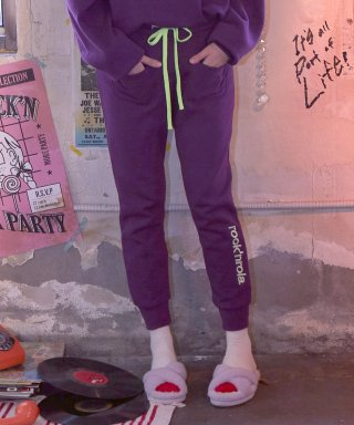 로라로라(rolarola) (PT-18740) TRAINING PANTS PURPLE