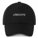 바이브레이트(vibrate) EMPTIED LOGO BALL CAP (BLACK)