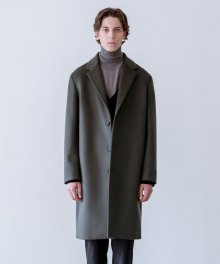 SOLIST OVERSIZE CASHEMERE COAT (dark green)
