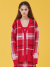 아이아이(EYEYE) CHECK PATTERN KNIT CARDIGAN_RED (EEOG3CDR01W)