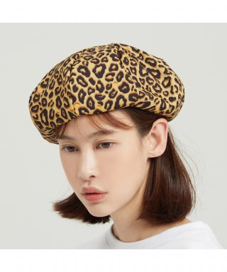 로맨틱크라운(romanticcrown) Leopard Newsboy Cap_Brown