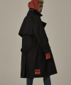 오베르(overr) 18FW BLACK TRENCH COAT