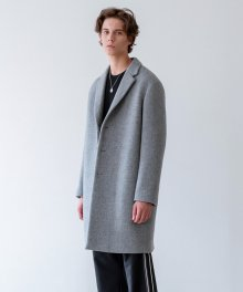 MORRIS CASHMERE COAT (grey)