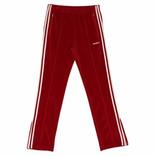널디(nerdy) Velour Track Pants Burgundy