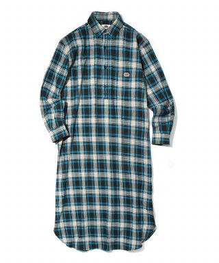 프룻오브더룸(fruitoftheloom) ONE PIECE CHECK SHIRTS (WOMEN) BLUE
