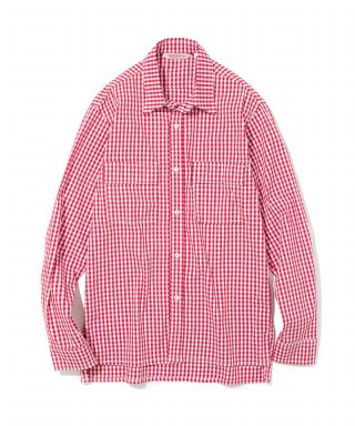 유니폼브릿지(uniformbridge) 18fw relax check shirts red