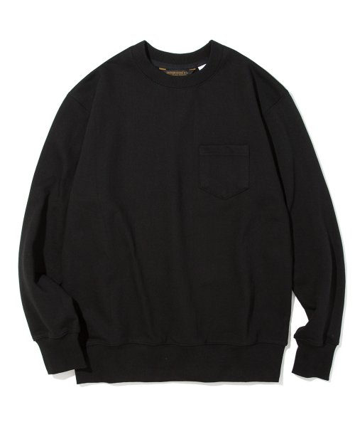 유니폼브릿지(UNIFORM BRIDGE) 18fw pocket sweat shirts black