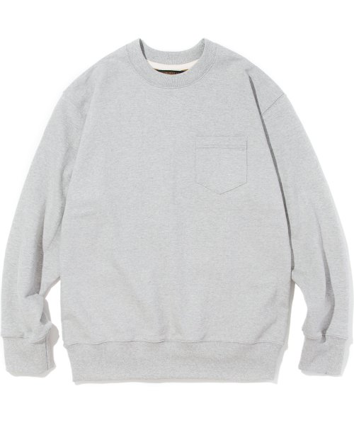 유니폼브릿지(UNIFORM BRIDGE) 18fw pocket sweat shirts grey