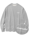 비바스튜디오(vivastudio) LOCATION LOGO CREWNECK HA [MELANGE]