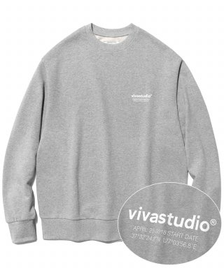 비바스튜디오(vivastudio) LOCATION LOGO CREWNECK IS [MELANGE]