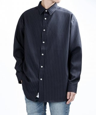 베리베인(veryvain) TP95 PIN STRIPE SHIRTS (NAVY)