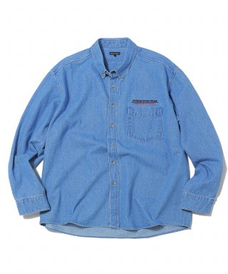 디스이즈네버댓(thisisneverthat) SP-INTL. Logo Denim Shirt Blue