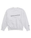 디스이즈네버댓(THISISNEVERTHAT) SD-Logo Flock Crew Light Grey