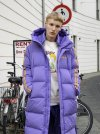 [NERDY] NY Track Long Down Jacket Purple