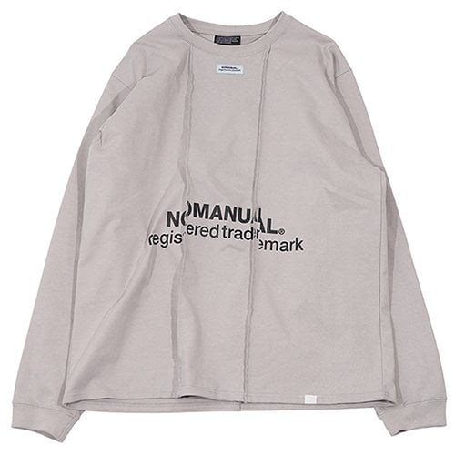 노매뉴얼(NOMANUAL) DISTORTED TM LOGO LONG SLEEVE TEE - BLACK