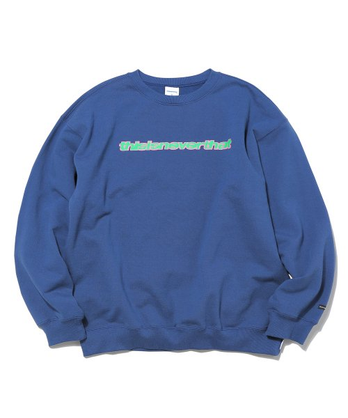 디스이즈네버댓(THISISNEVERTHAT) Bubble SP Crewneck Light Navy