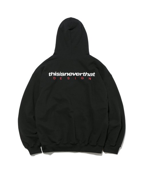 디스이즈네버댓(THISISNEVERTHAT) DSN Logo Hooded Sweatshirt Black