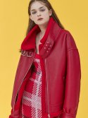 아이아이(eyeye) FAKE LEATHER LAMB SHEARING JACKET_RED (EEOG4LJR01W)