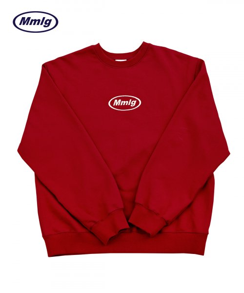 팔칠엠엠서울(87MM_SEOUL) [Mmlg] EMBROIDERY MMLG SWEAT (DEEP RED)