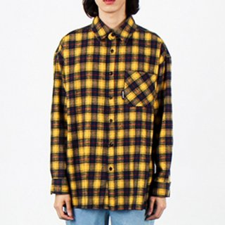 오버더원(overtheone) [105]BASIC FIT CHECK SHIRTS(YELLOW)