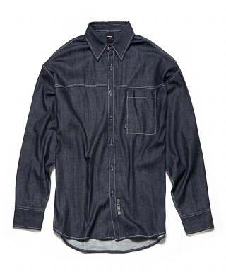 오버더원(overtheone) [049] OVER FIT DARK DENIM SHIRTS