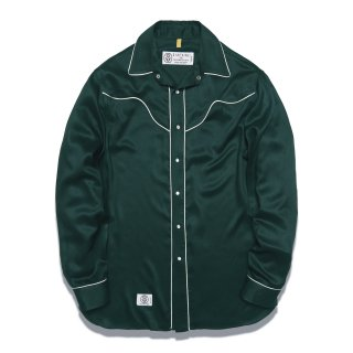 디아프바인(diafvine) DV. LOT551 RAYON WESTERN SHIRTS -GREEN-