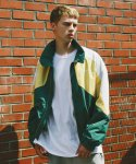 써치410(search410) [UNISEX] TRIPLE COMBINATION WINDBREAKER_GREEN