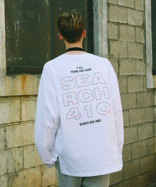 써치410(search410) [UNISEX] DIAL OVER LONG SLEEVE_WHITE