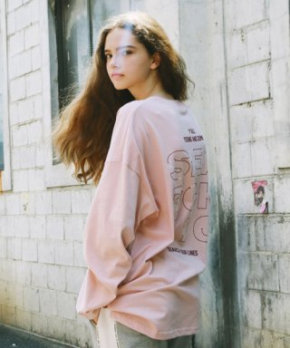 써치410(search410) [UNISEX] DIAL OVER LONG SLEEVE_PINK