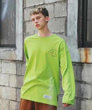 써치410(search410) [UNISEX] DIAL OVER LONG SLEEVE_LIME