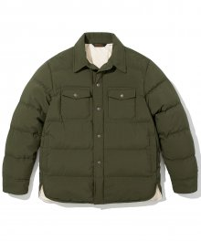18fw down shirts jacket khaki