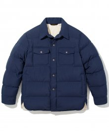 18fw down shirts jacket navy