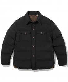 18fw down shirts jacket black