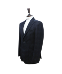 벨리프(BELLIEF) Premium Wool Check soft tailored jacket (Navy)