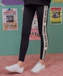 로라로라(ROLAROLA) (LS-18553) SIDE LETTERING LEGGINGS BLACK