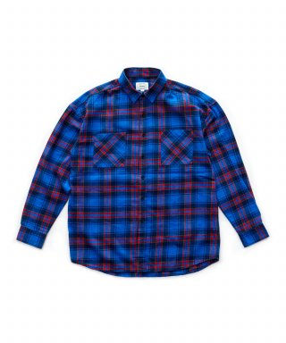 브루먼(bruman) Flannel Check Shirts (Blue)