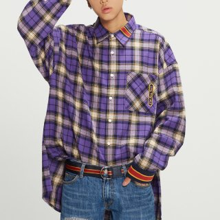 로맨틱크라운(romanticcrown) RMTCRW Check Shirt_Purple