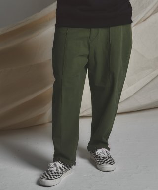 스테이지 네임(stagename) STG pintuck wide pants_KHAKI