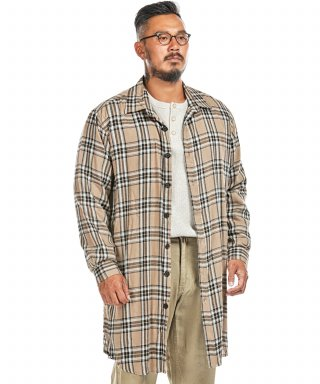 러기드하우스(ruggedhouse) LAYER CHECK LONG SHIRTS 베이지