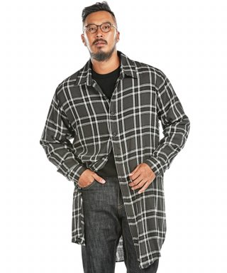 러기드하우스(ruggedhouse) LAYER CHECK LONG SHIRTS 블랙