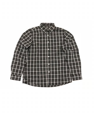 토피(toffee) Melanism Check shirt (BLACK)