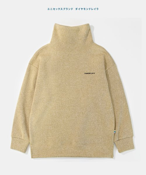 다이아몬드 레이라(DIAMOND LAYLA) Layla endless love Basic Turtleneck knit fleece tee K4 Beige