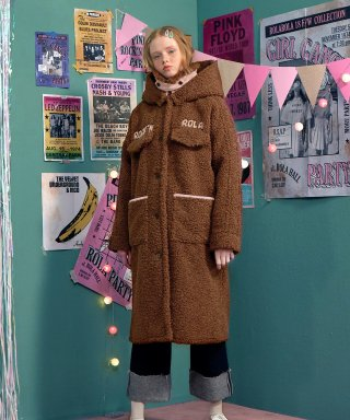 로라로라(rolarola) (CT-18704) BOUCLE LONG COAT BROWN