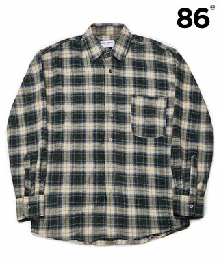 86로드(86road) Semiover Herringbone Check Shirts (Green)