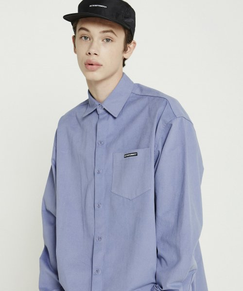 트라이투톡(TRYTOTALK) T38F OVERFIT PEACH COTTON SHIRTS (LIGHT PURPLE)