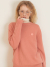 룩캐스트(LOOKAST) PINK CASHMERE ONE POINT ROUND KNIT