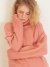 룩캐스트(LOOKAST) PINK CASHMERE WOOL TURTLENECK KNIT