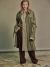OVERSIZED SHIRT TRENCH COAT KHAKI