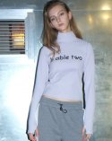 비에이블투(B ABLE TWO) Logo Turtleneck T-shirts (PUPPLE)
